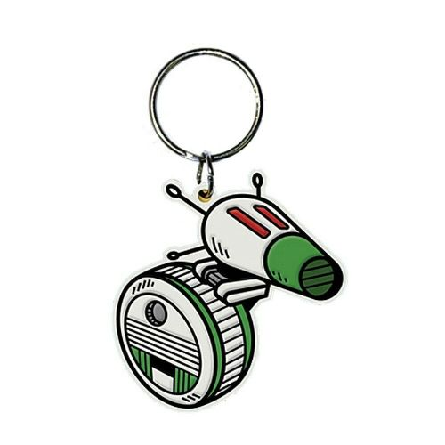 Star Wars D-O Droid Keyring Rubber Keychain Fob